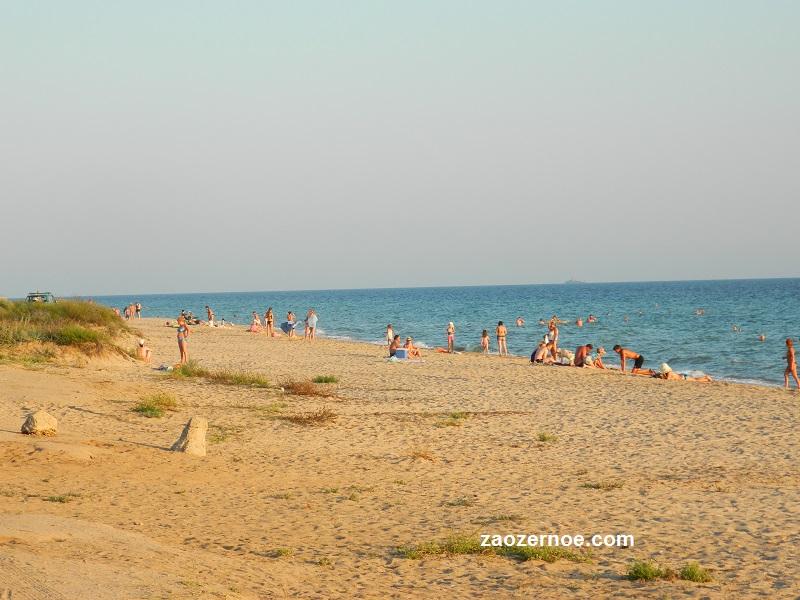 Дикий пляж Заозёрное